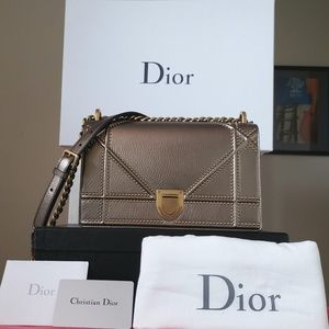 8c2f0bd62a6c Dior Bags - Diorama dior medium grained calfskin gold stud bag